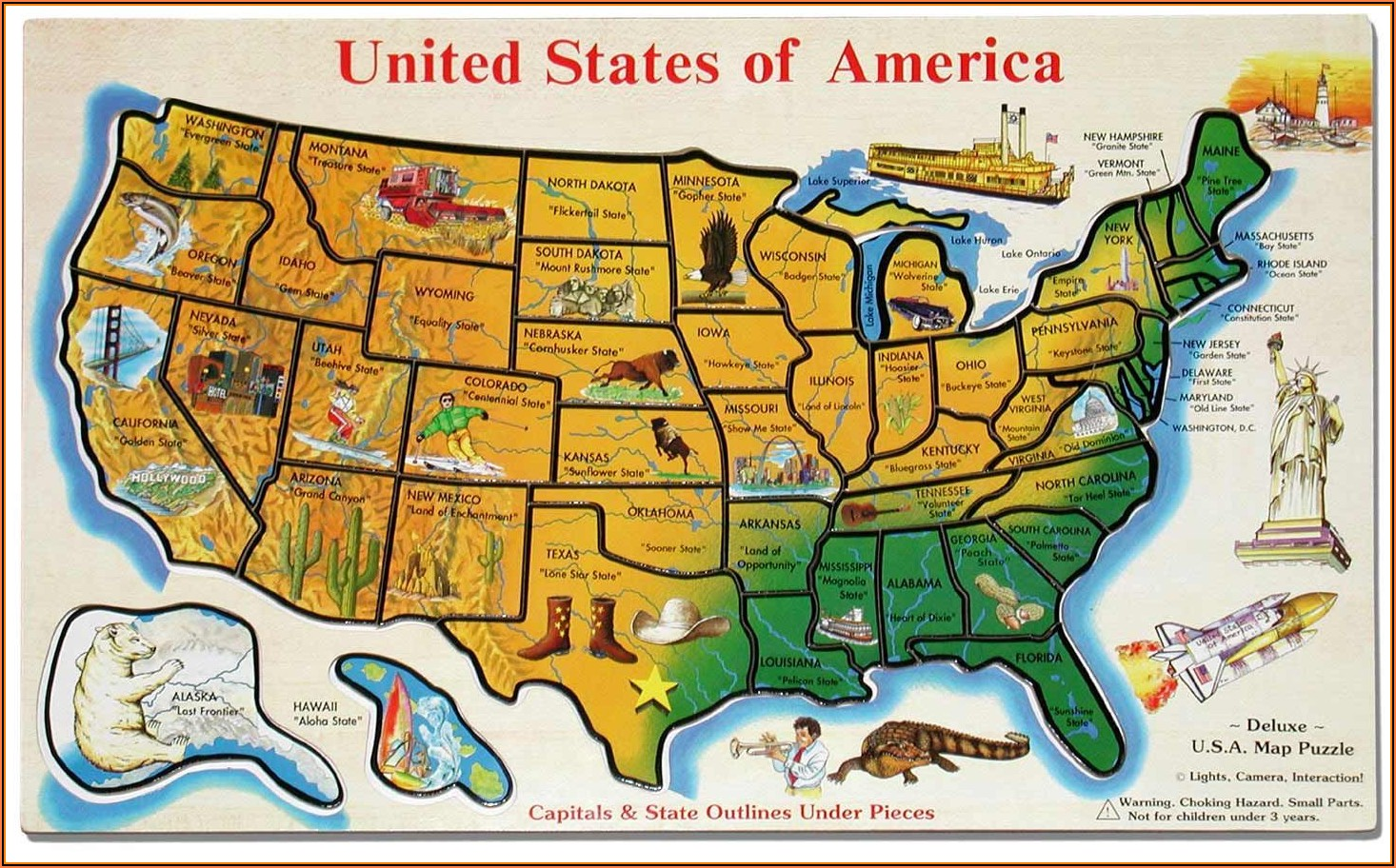 States And Capitals Map Puzzle