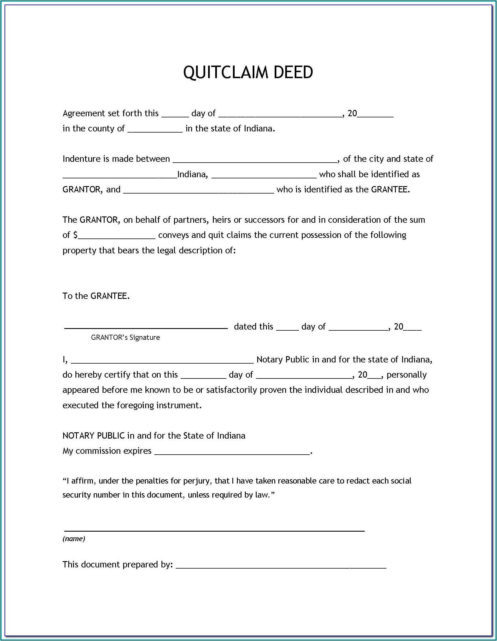 Survivorship Deed Form Free Download