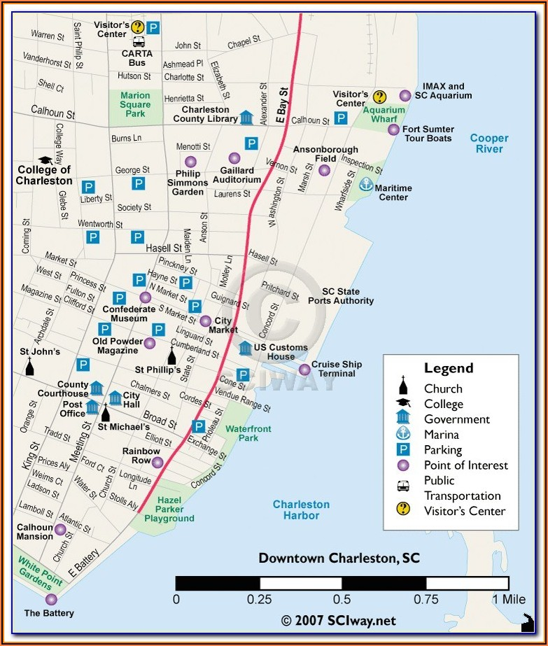Tampa Downtown Hotels Map