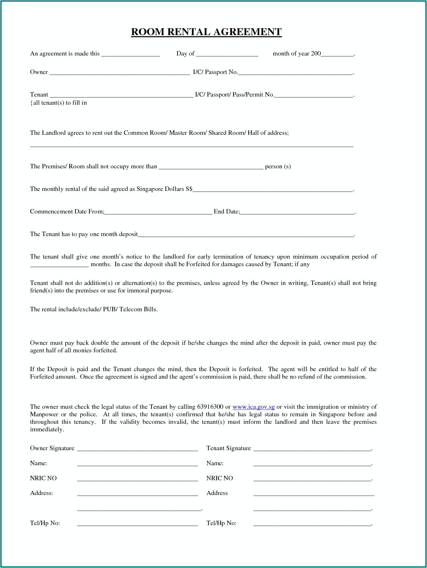 Tenancy Application Form Vic
