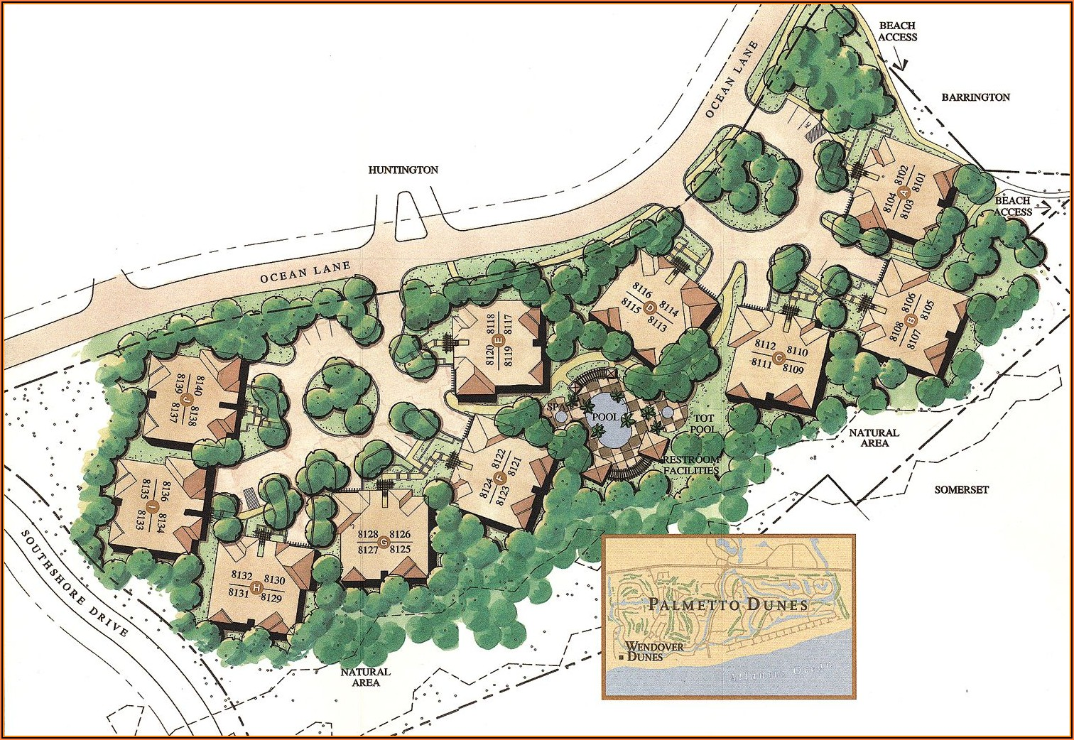The Moorings Palmetto Dunes Map