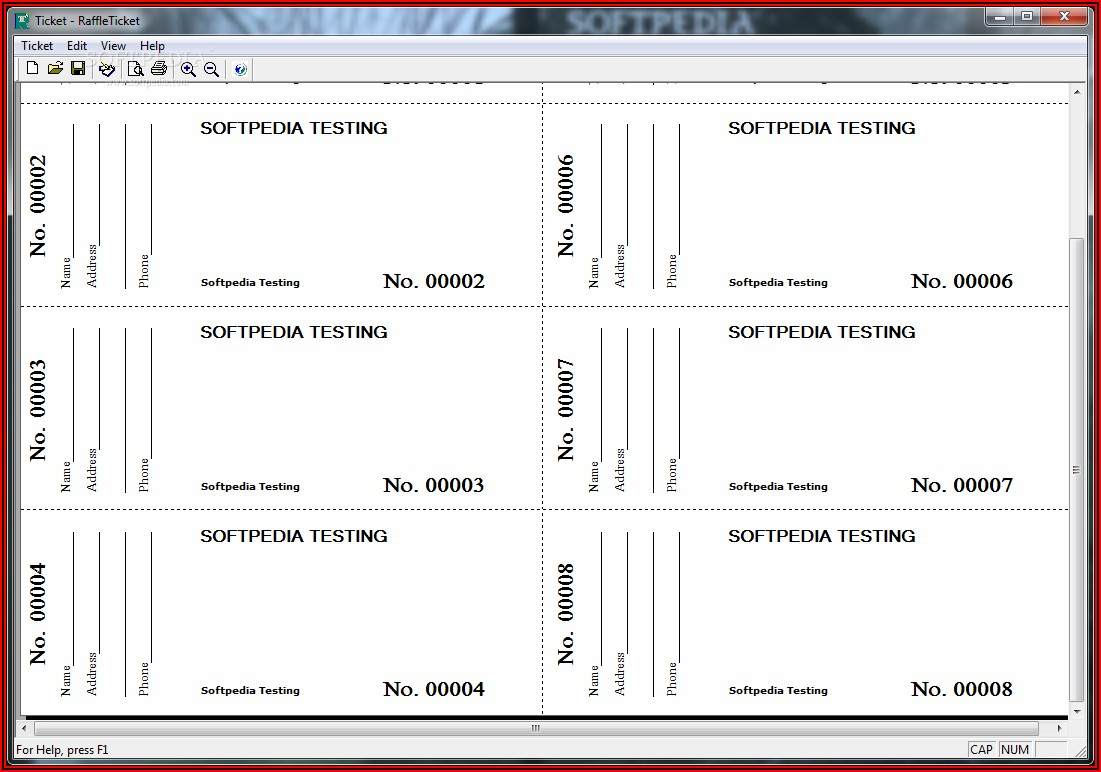 Ticket Template Download Free