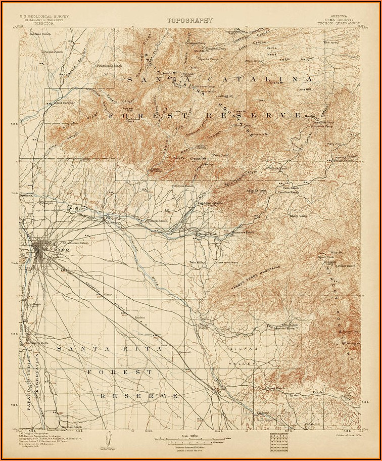 Topographic Map Arizona