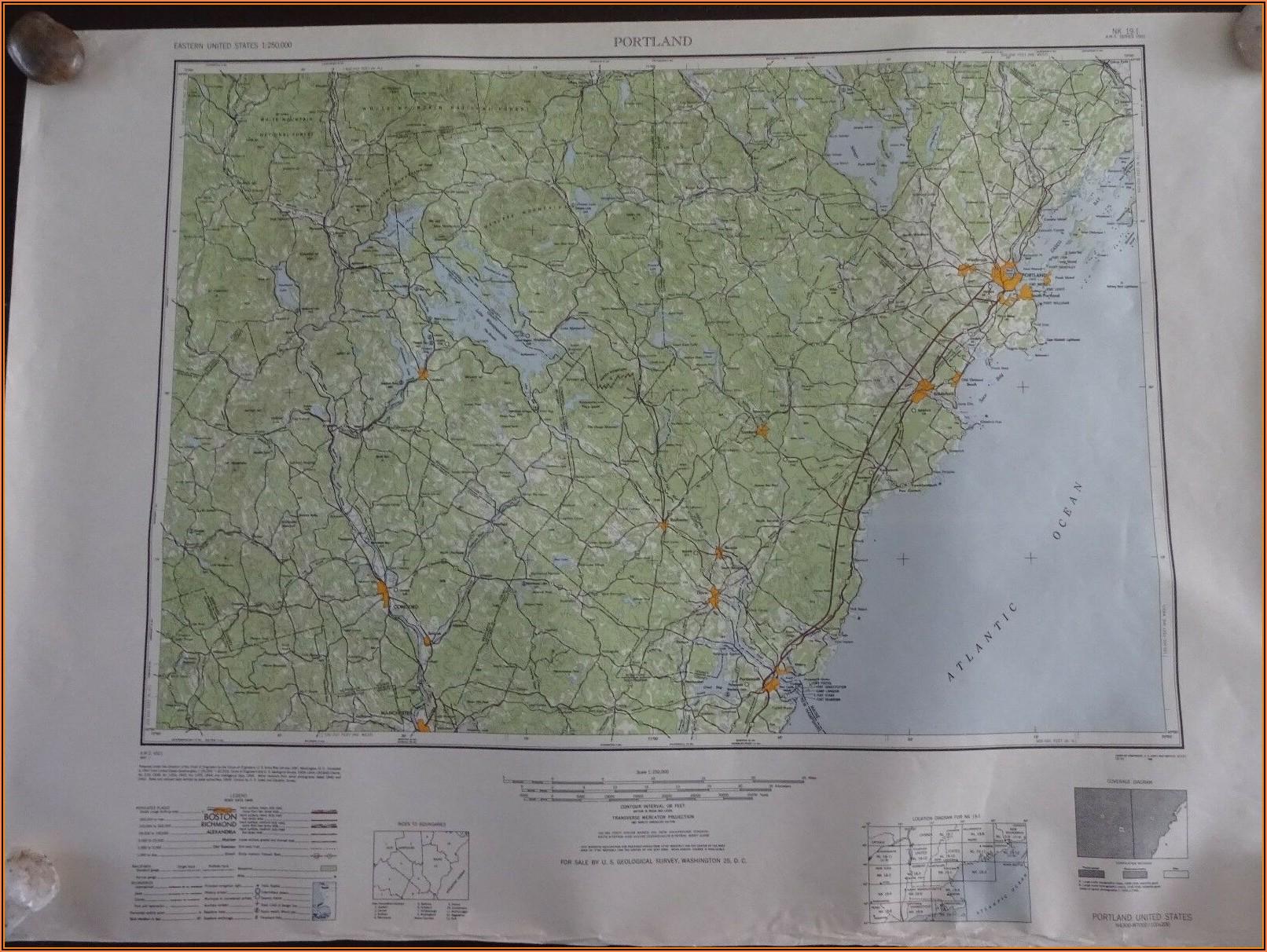 Topographic Map Portland Maine