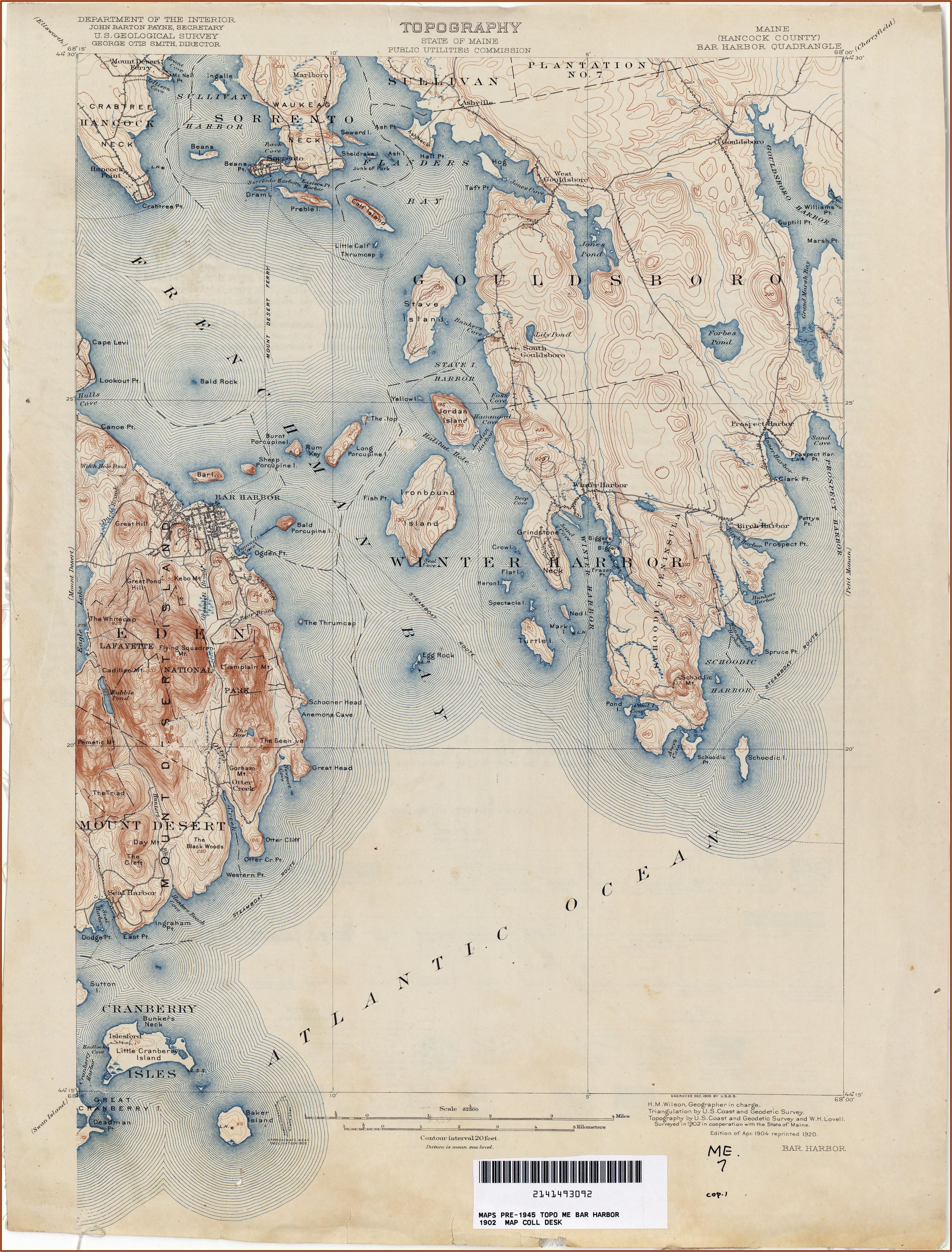 Topographic Maps Maine