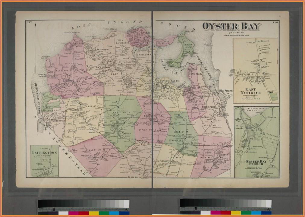 Township Of Oyster Bay Ny Map