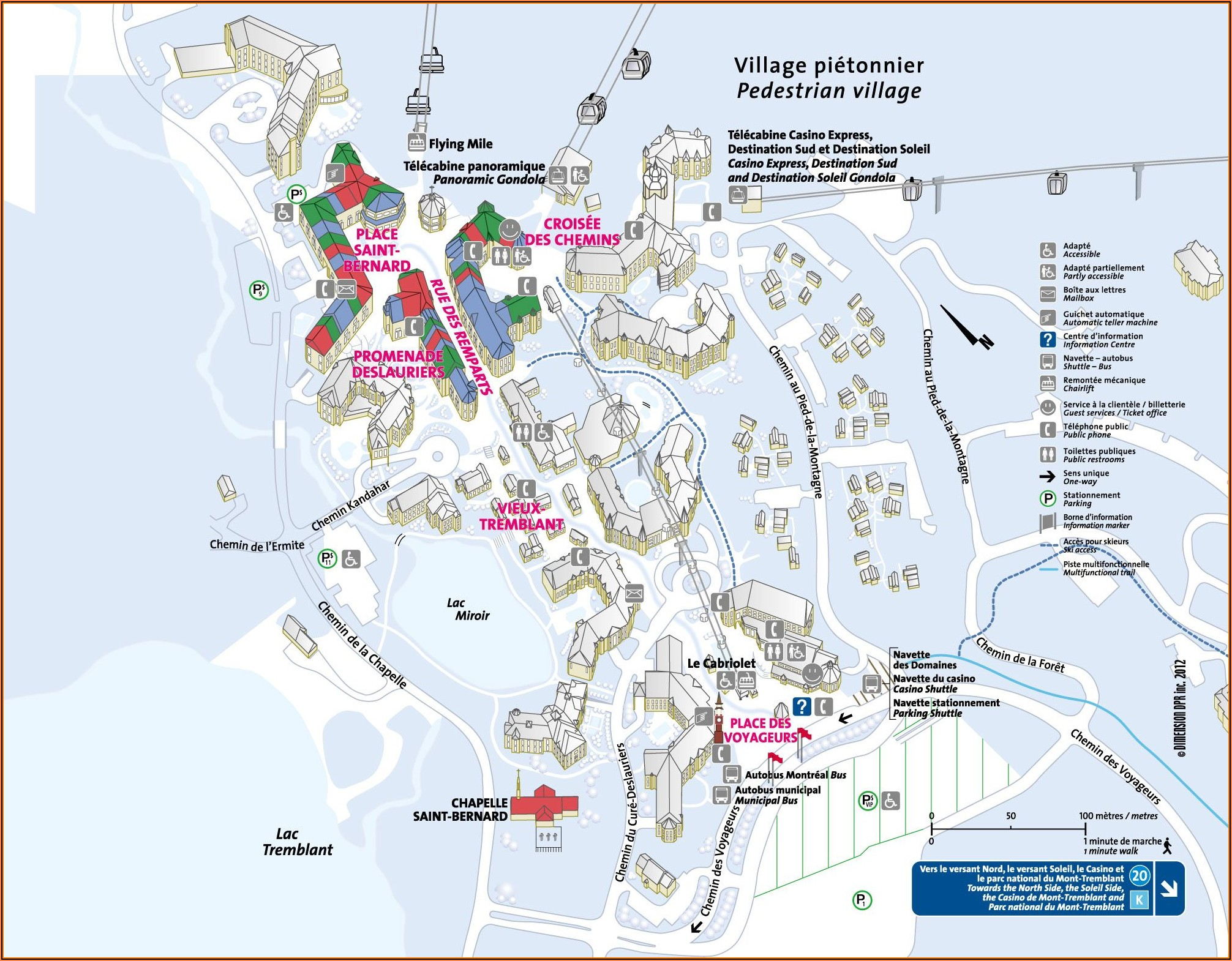 Tremblant Village Hotel Map
