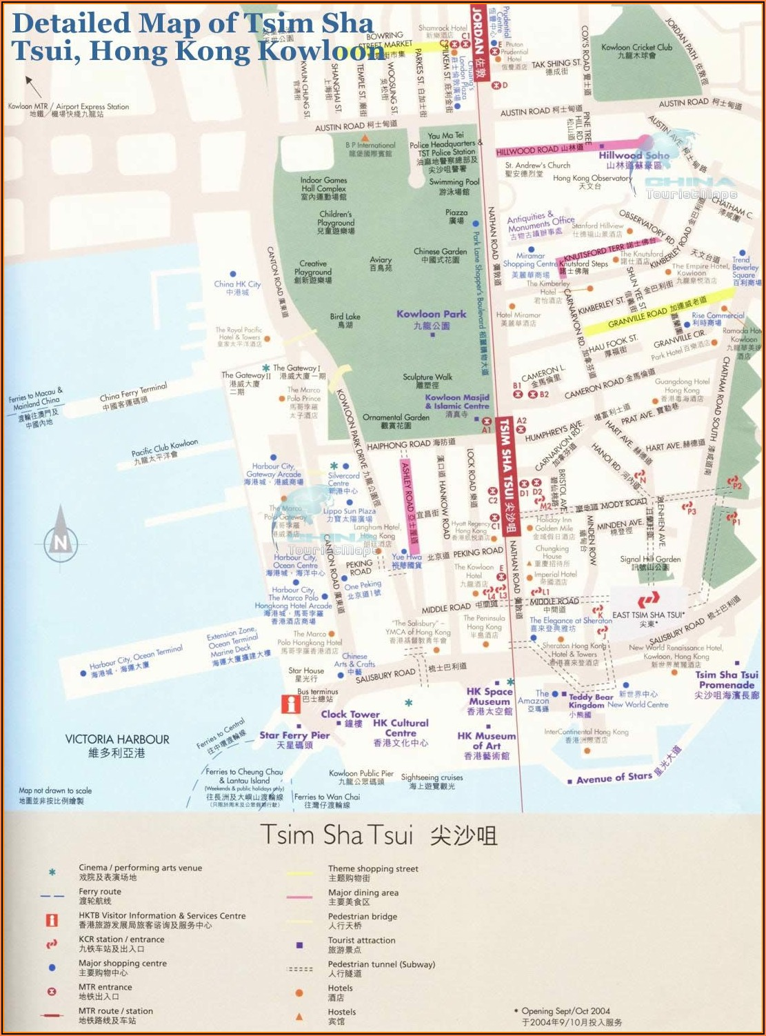 Tsim Sha Tsui Hotels Map
