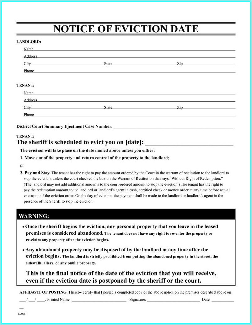 Unlawful Detainer Forms