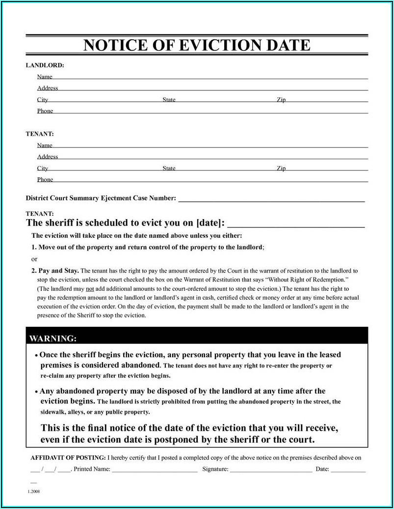 Unlawful Detainer Forms