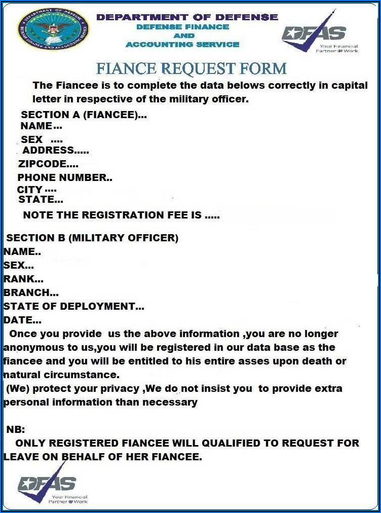 Us Military Fiance Request Form