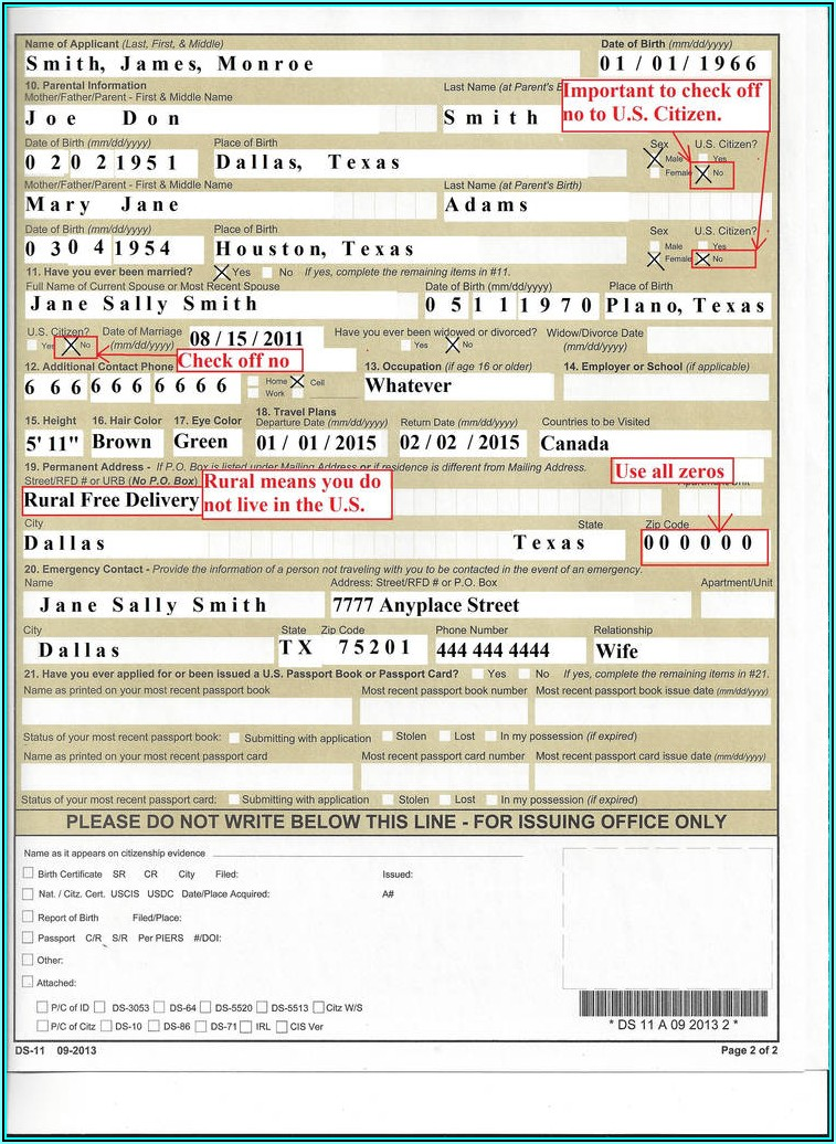 Us Passport Renewal Forms Printable