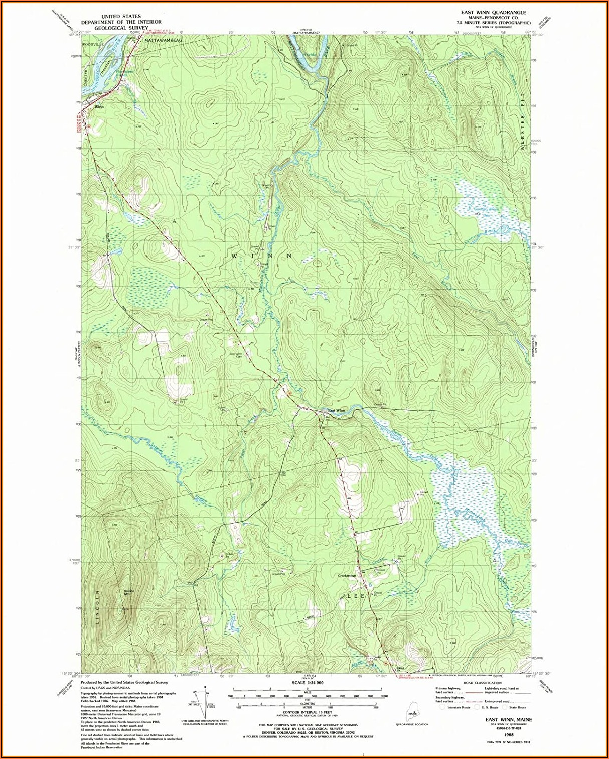 Usgs Topographic Maps Maine