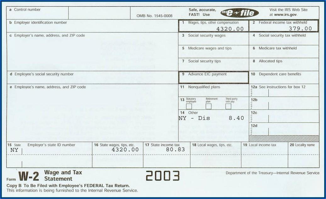 W2 Tax Form 2018