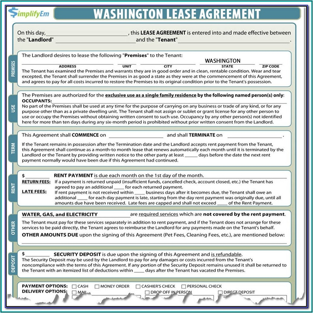 Washington State Eviction Forms