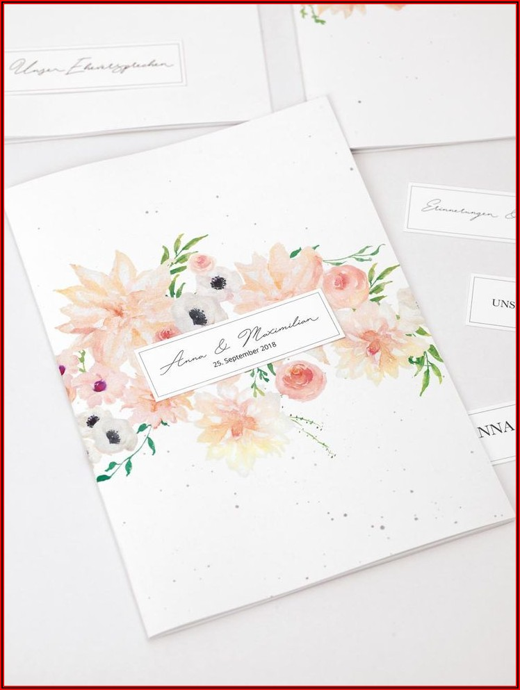 Wedding Booklet Design Templates