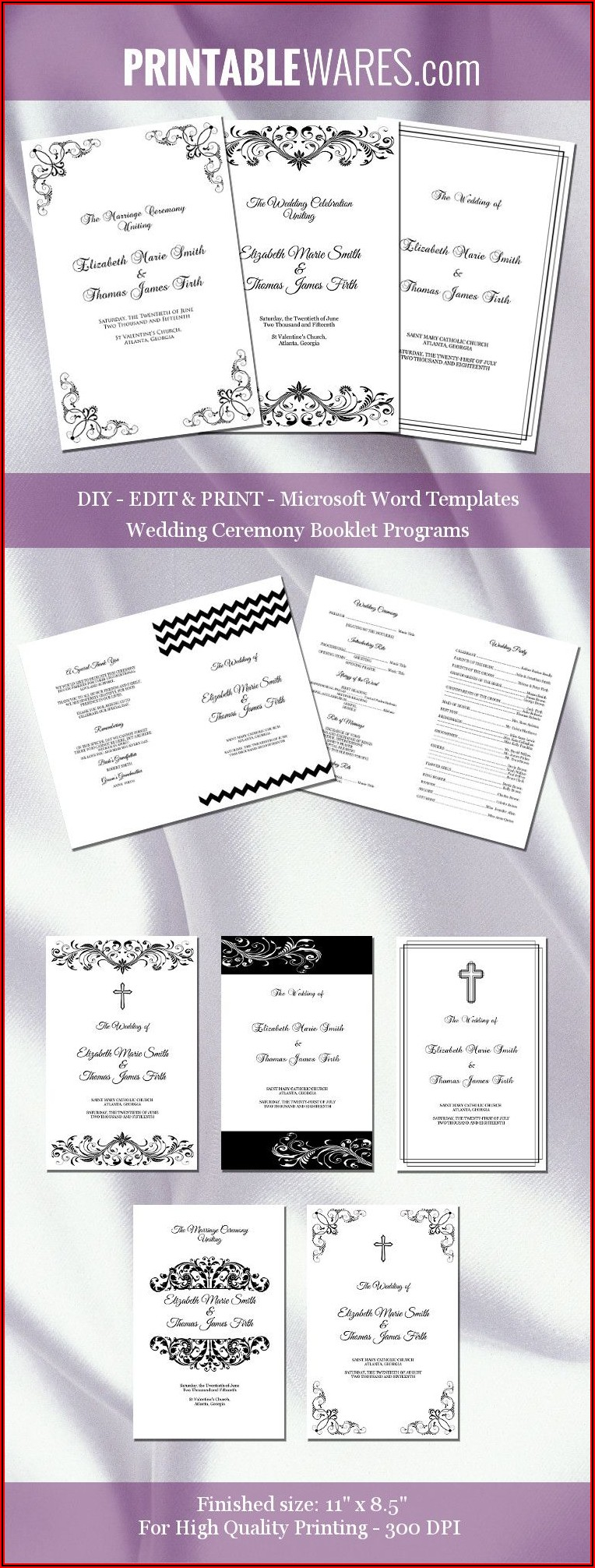 Wedding Booklet Templates