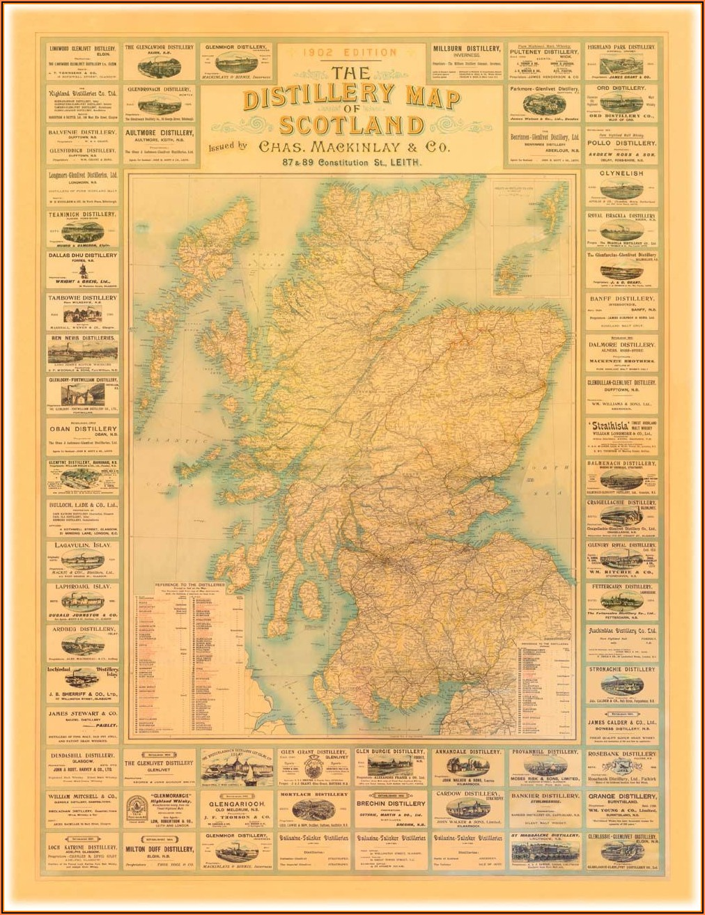 Whiskey Distillery Map Of Scotland