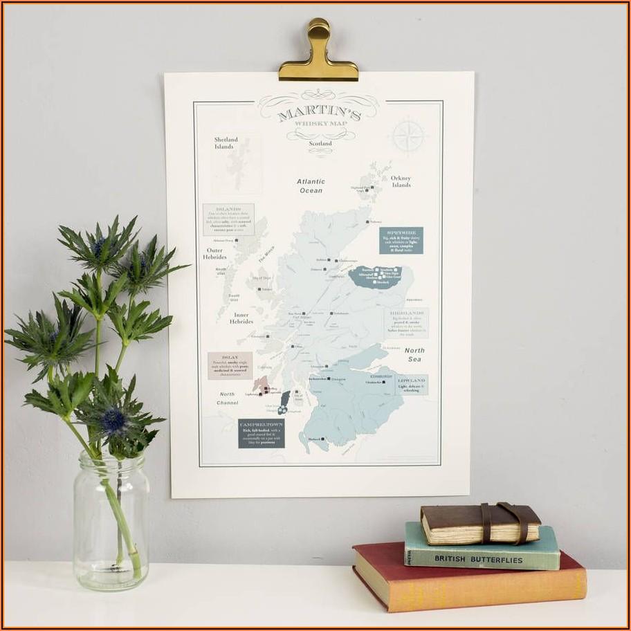 Whisky Map Of Distillery Regions In Scotland
