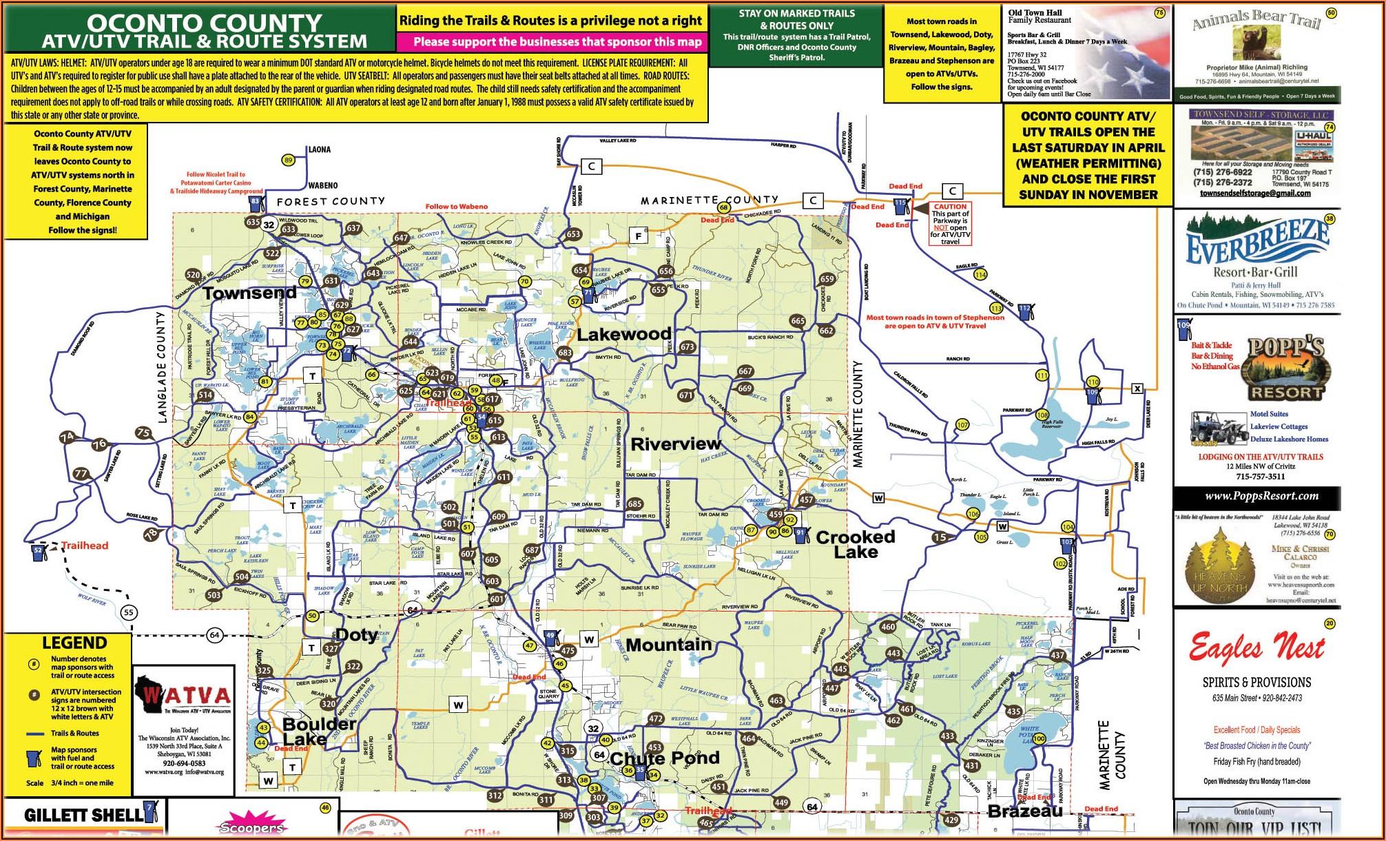 Wi Dnr Snowmobile Trail Maps