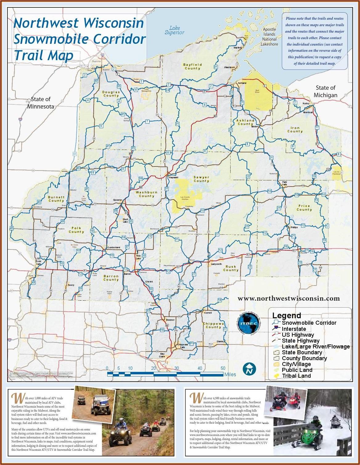 Wi Snowmobile Trail Map App