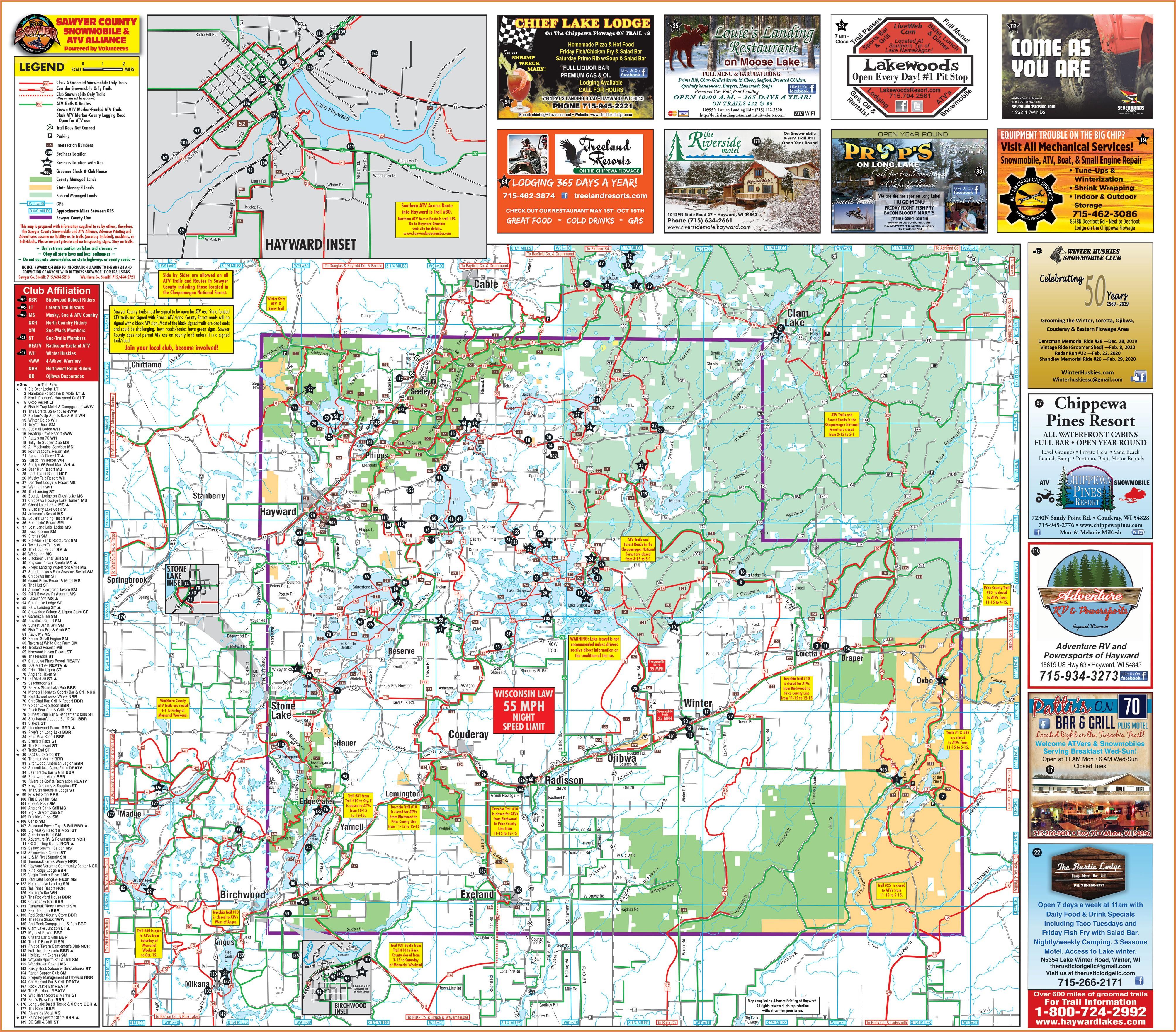 Wisconsin Snowmobile Maps Gps