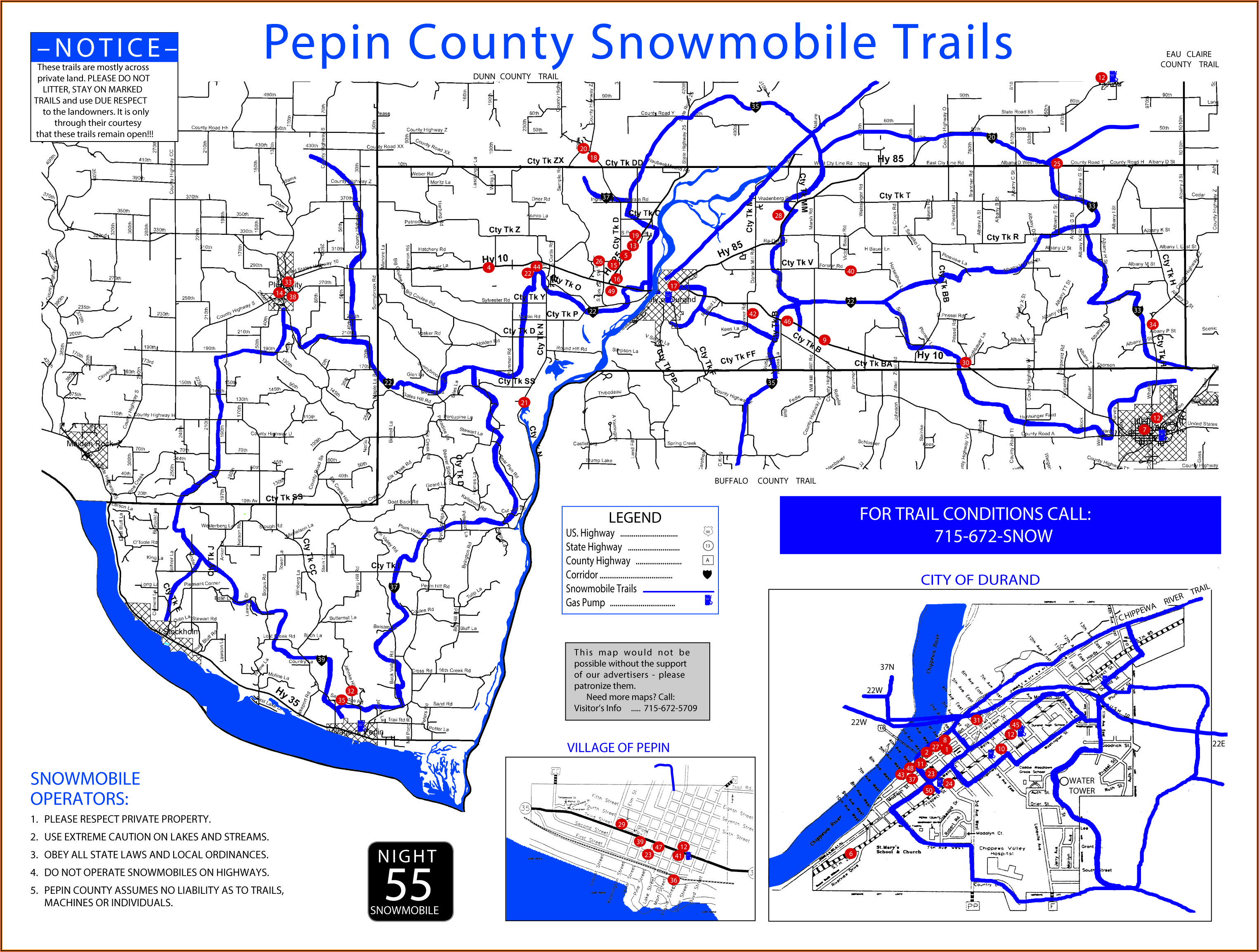 Wisconsin Snowmobile Maps