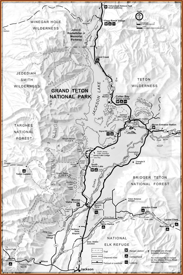 Yellowstone National Park Hotel Map