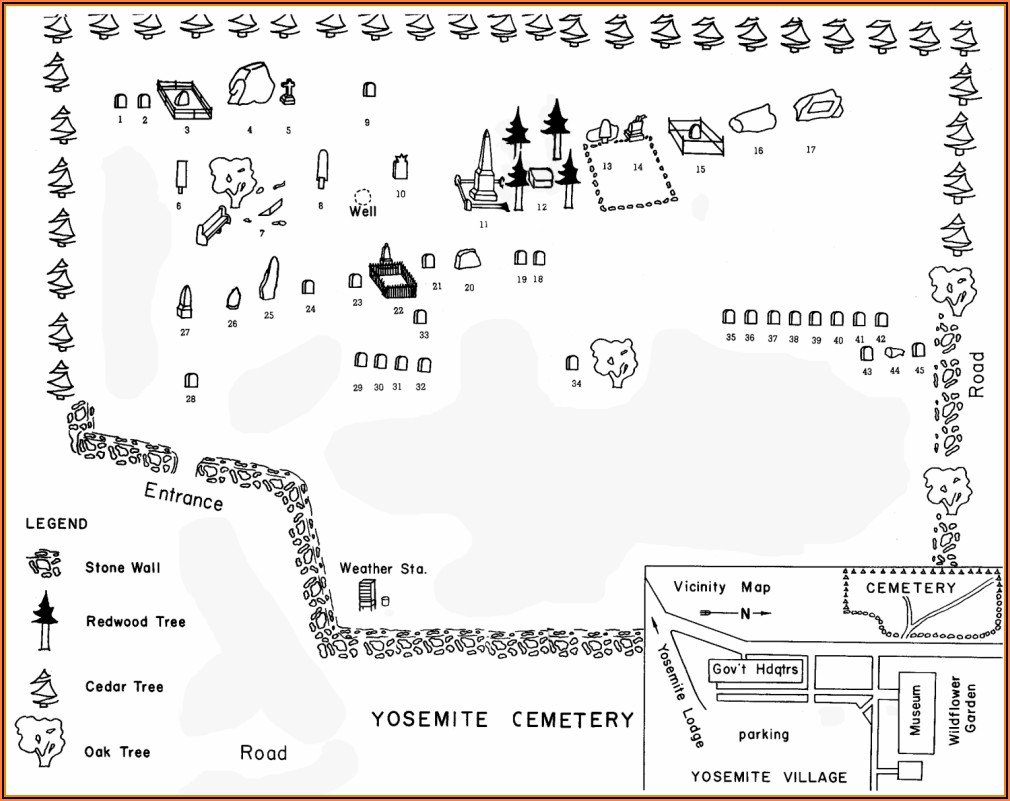 Yosemite Map Lodging