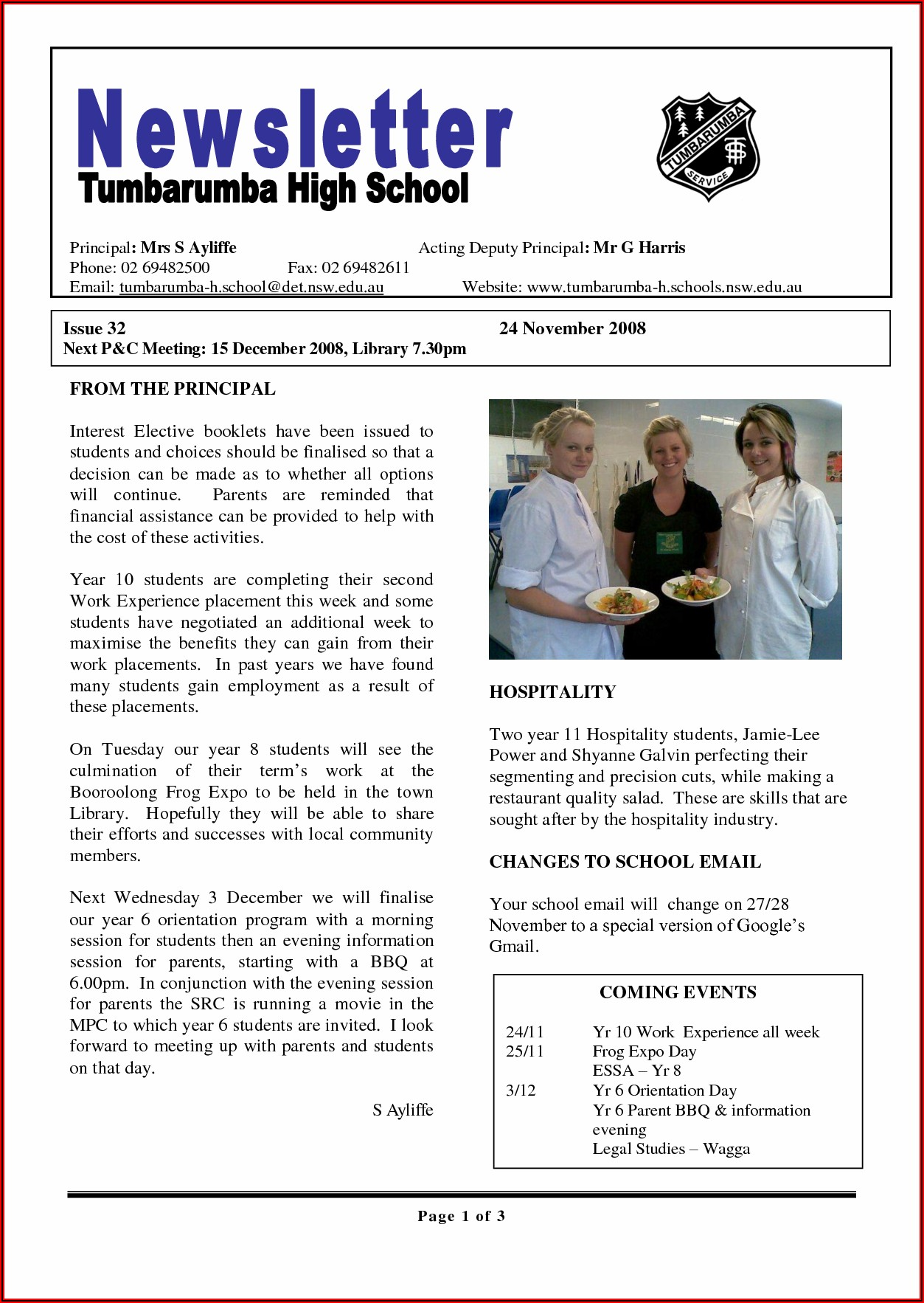 Youth Ministry Parent Newsletter Template