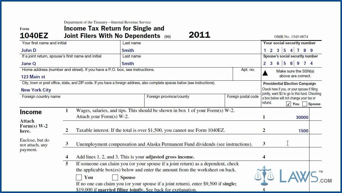 1040ez Tax Forms