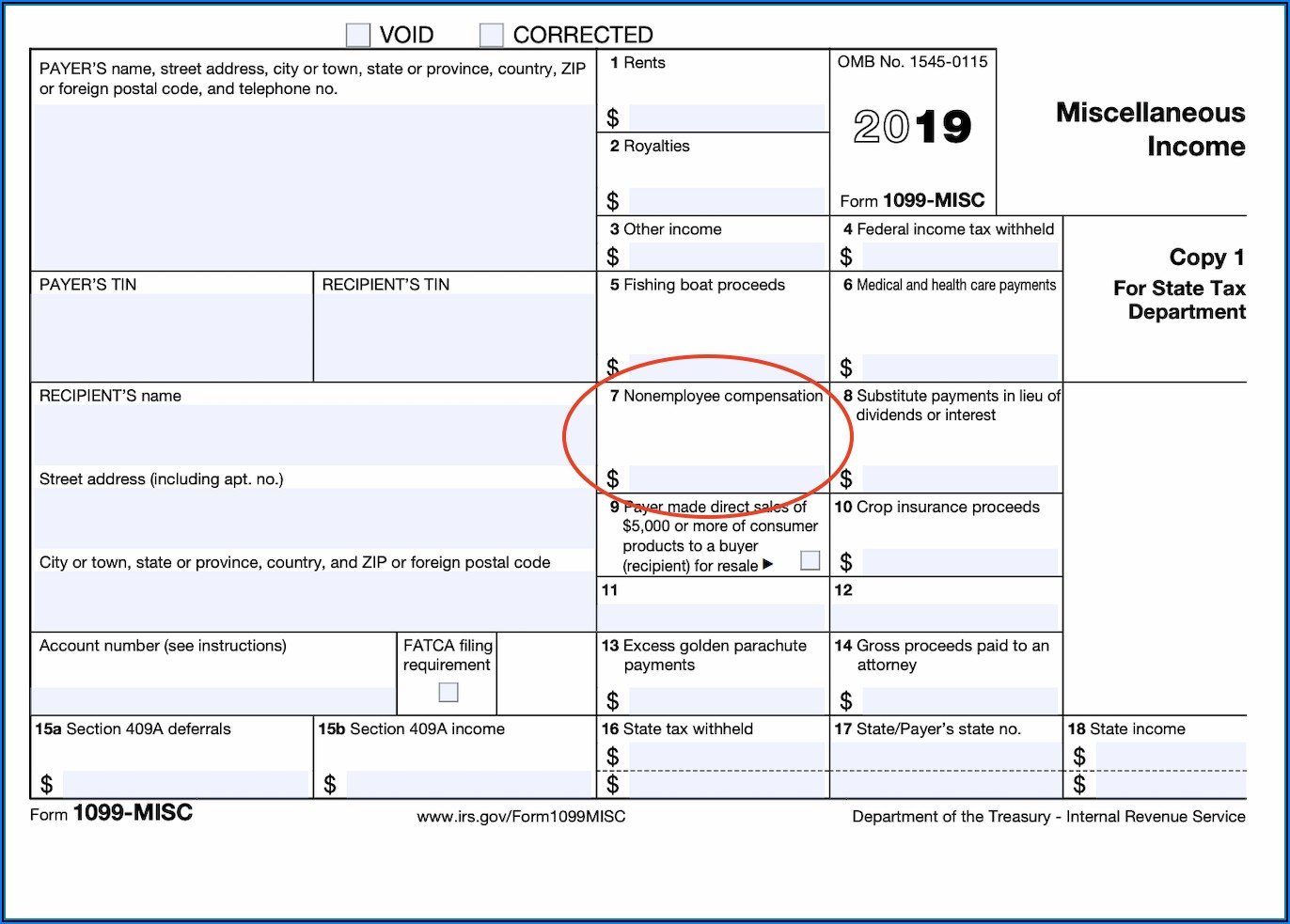 1099 Form For Independent Contractors 2019