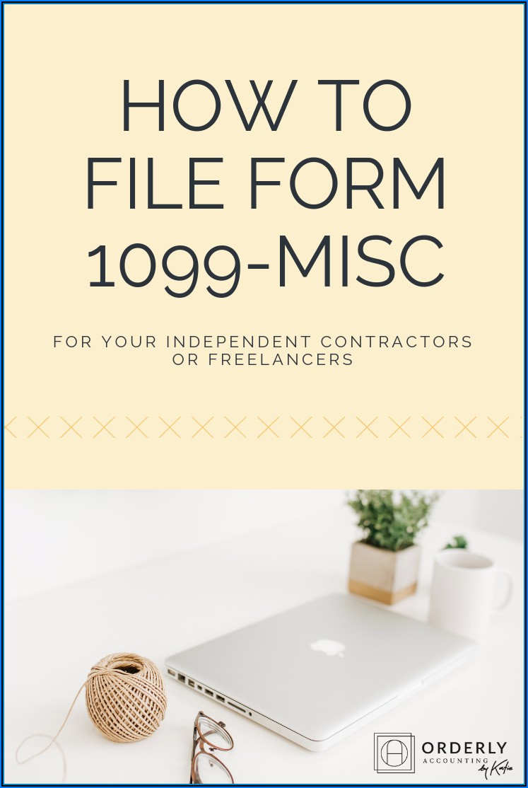 1099 Misc Form For Independent Contractors