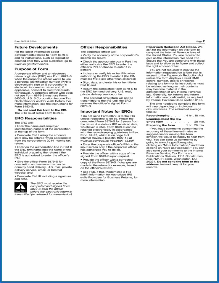2014 Irs Form 1120s