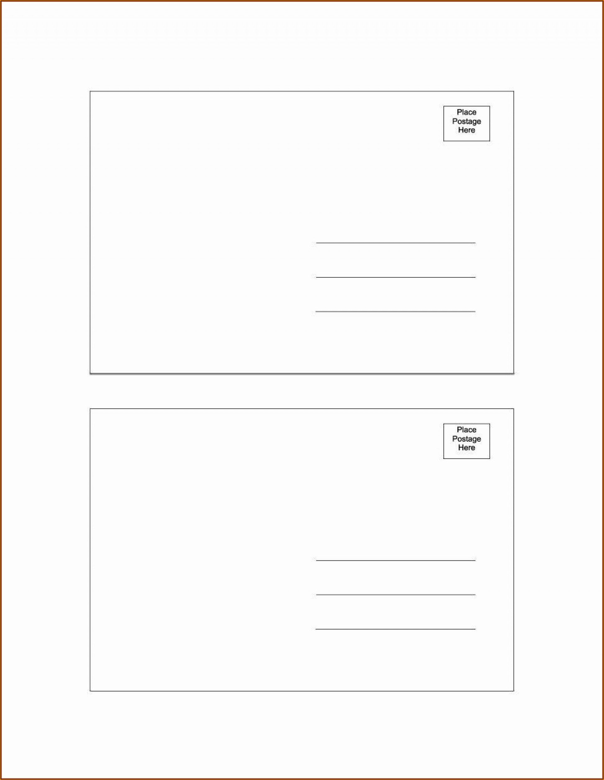 5x7 Postcard Template For Word