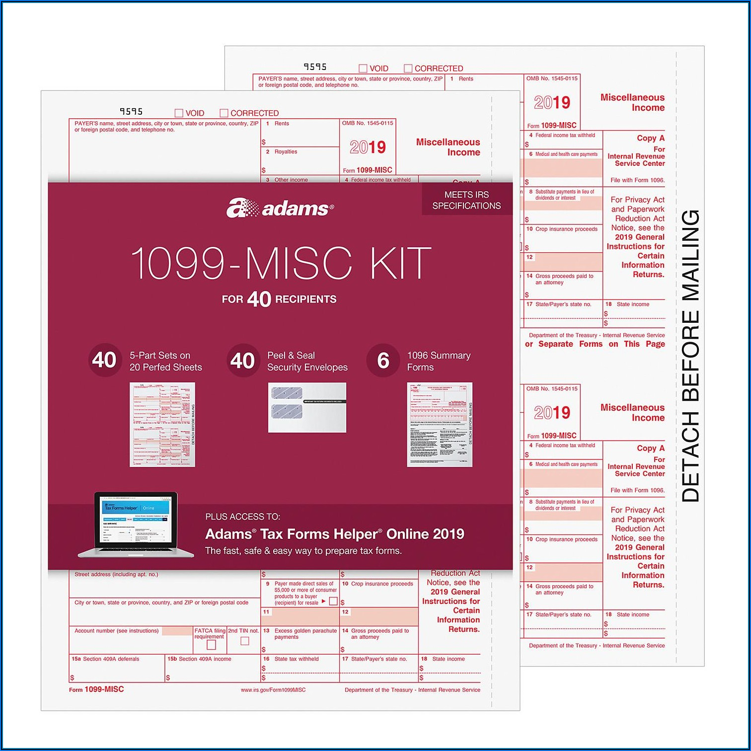 Adams 1099 Misc Forms Kit