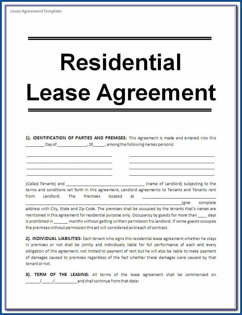Alberta Tenancy Agreement Form