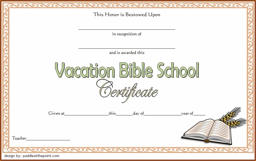 Bible Certificate Templates