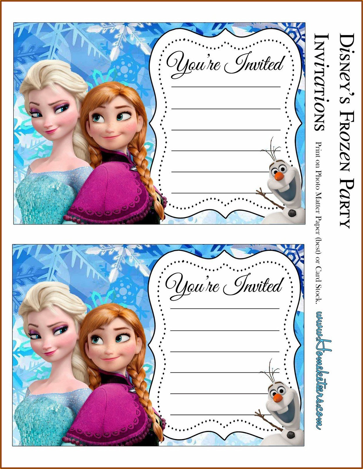 Birthday Party Invitation Templates Free Microsoft