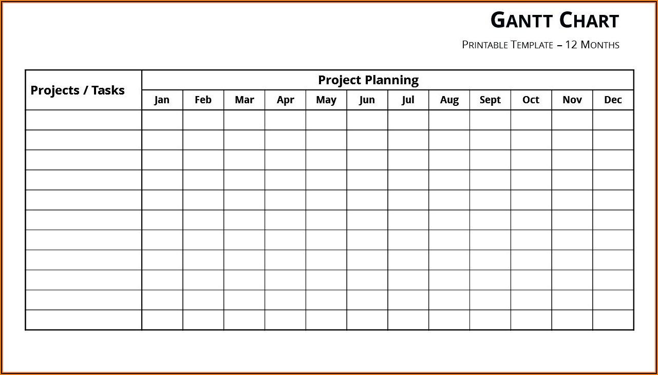 Blank Gantt Chart Template Word