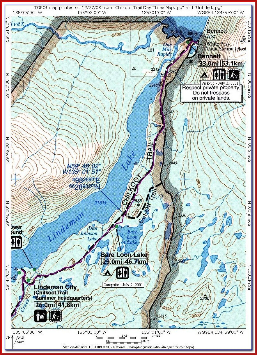 Chilkoot Pass Map
