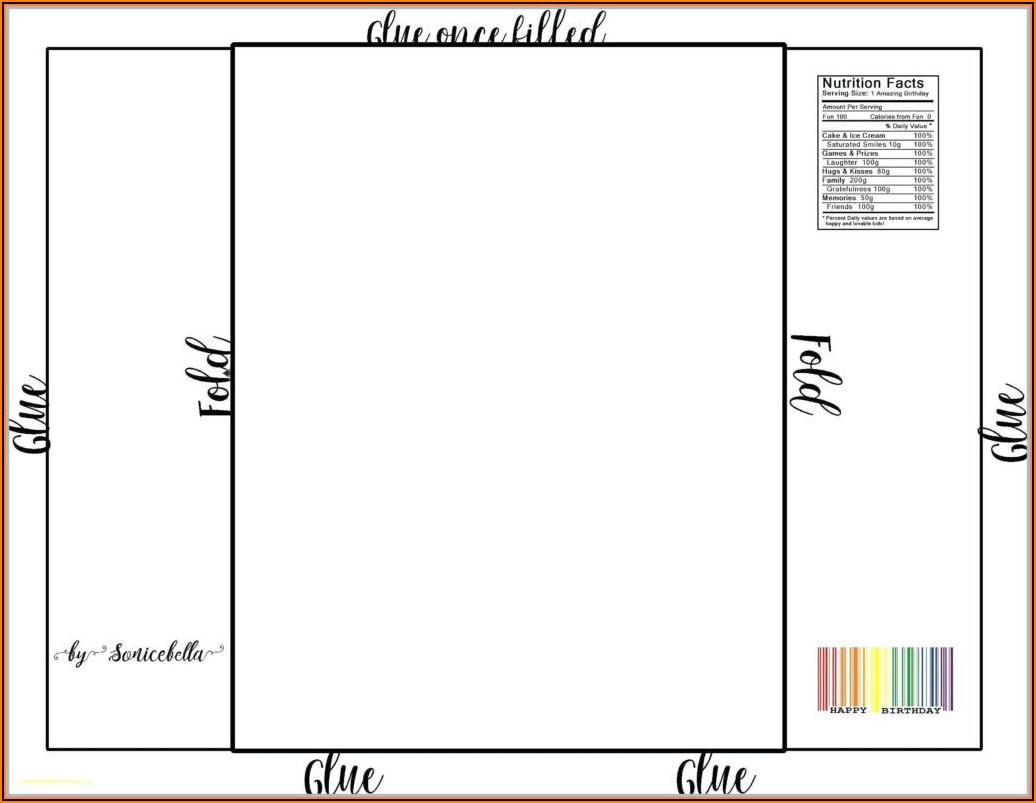Chocolate Wrapper Template Free