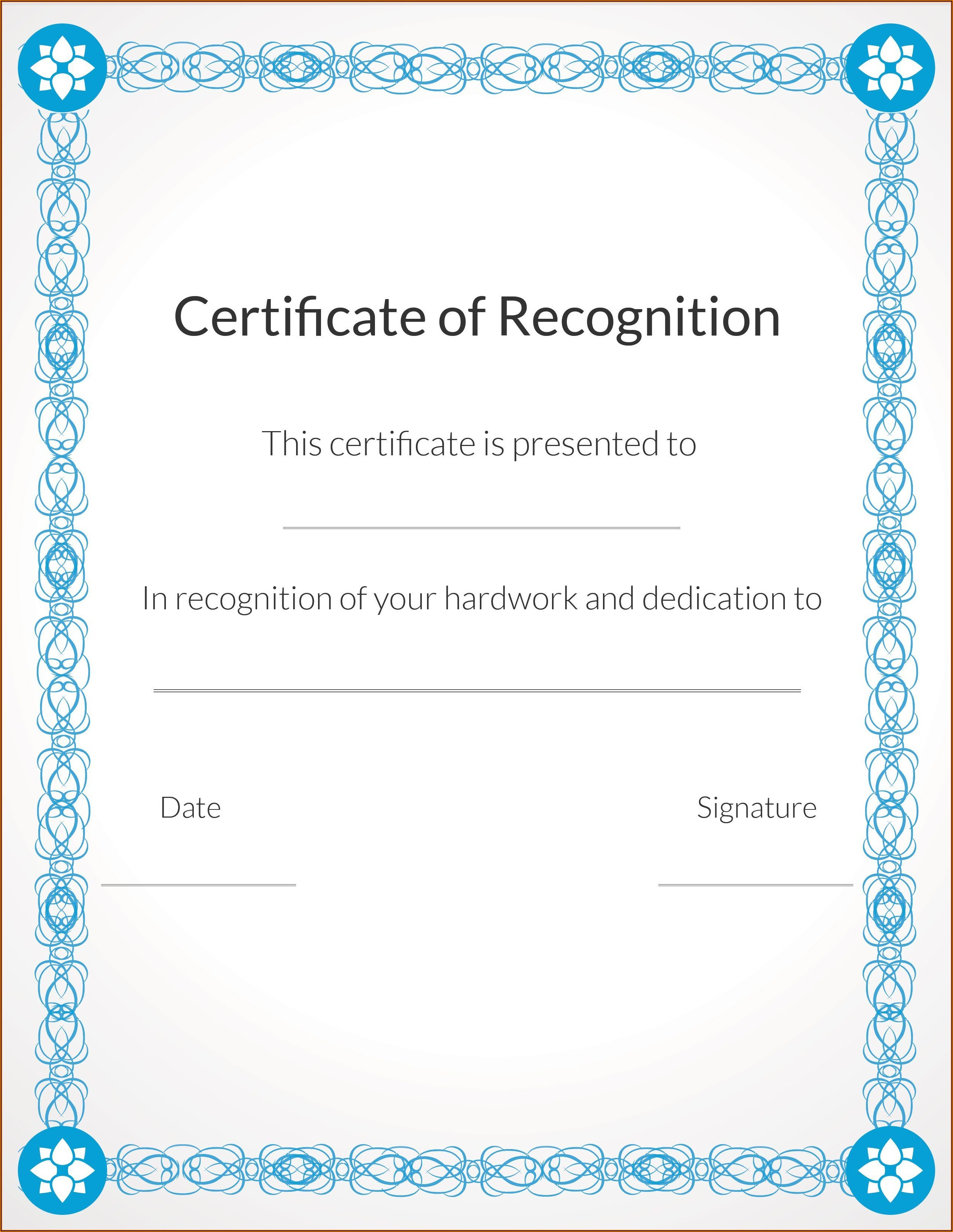 Christian Award Certificate Template