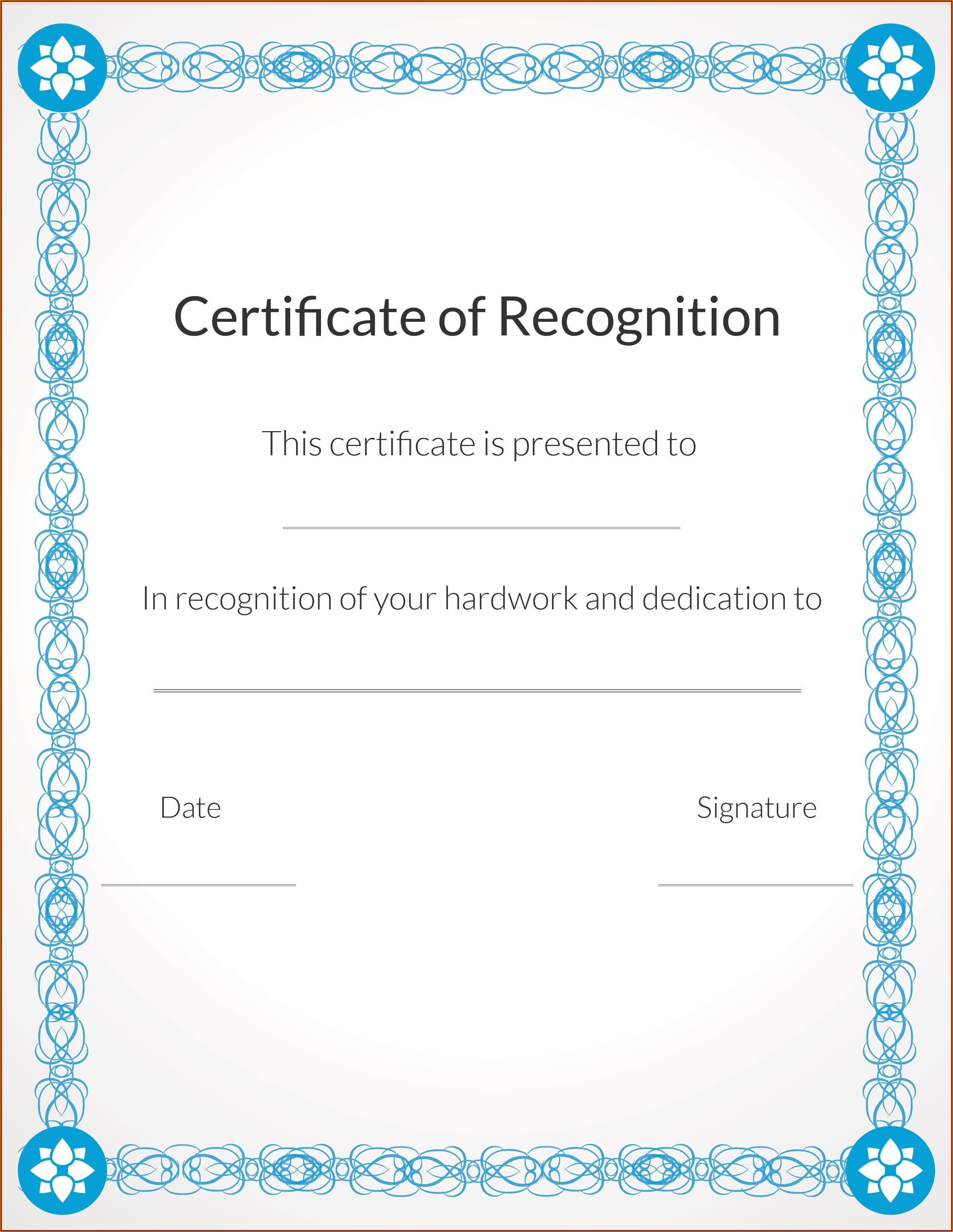 Christian Award Certificate Template