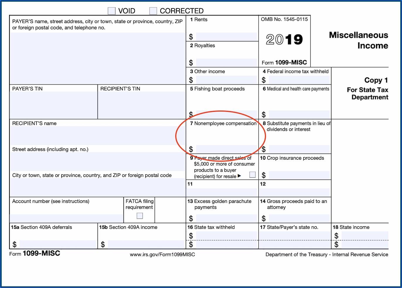 Contractor Form 1099