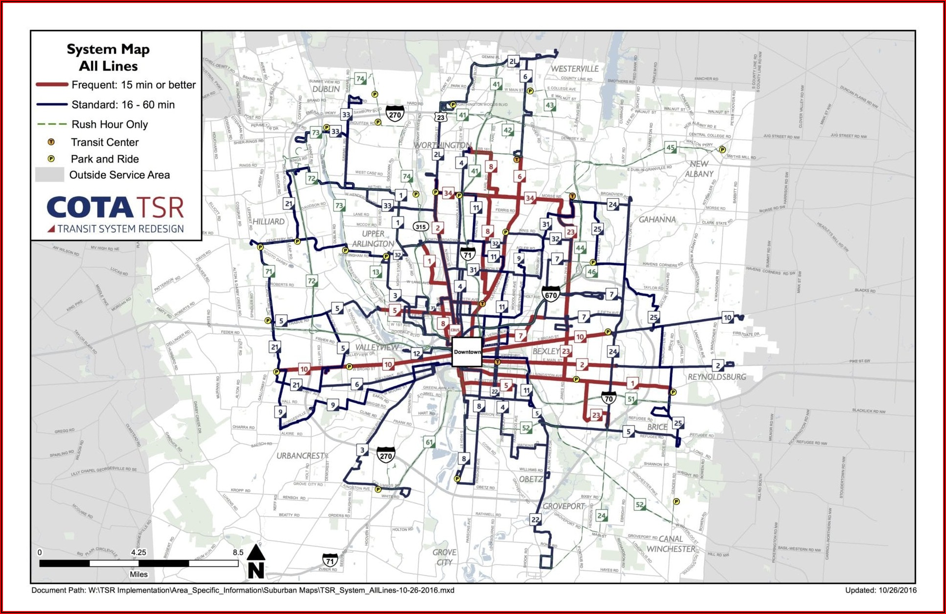 Cota Maps And Routes