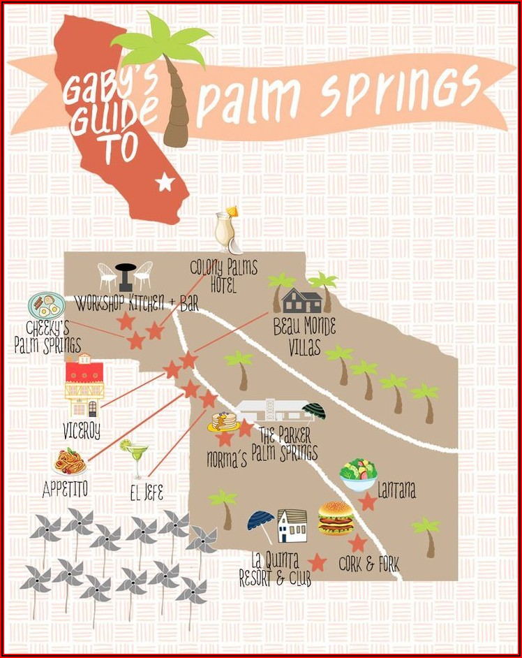 Downtown Palm Springs Hotels Map