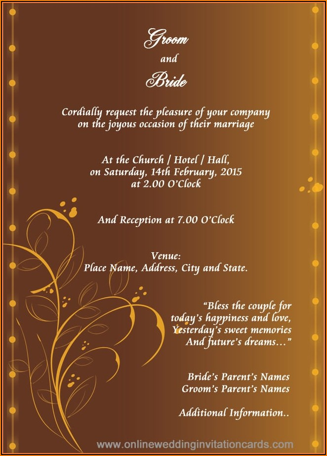 Editable Wedding Invitation Cards Templates Free Download