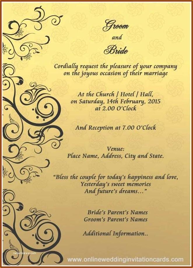 Editable Wedding Invitation Templates Free Download Online