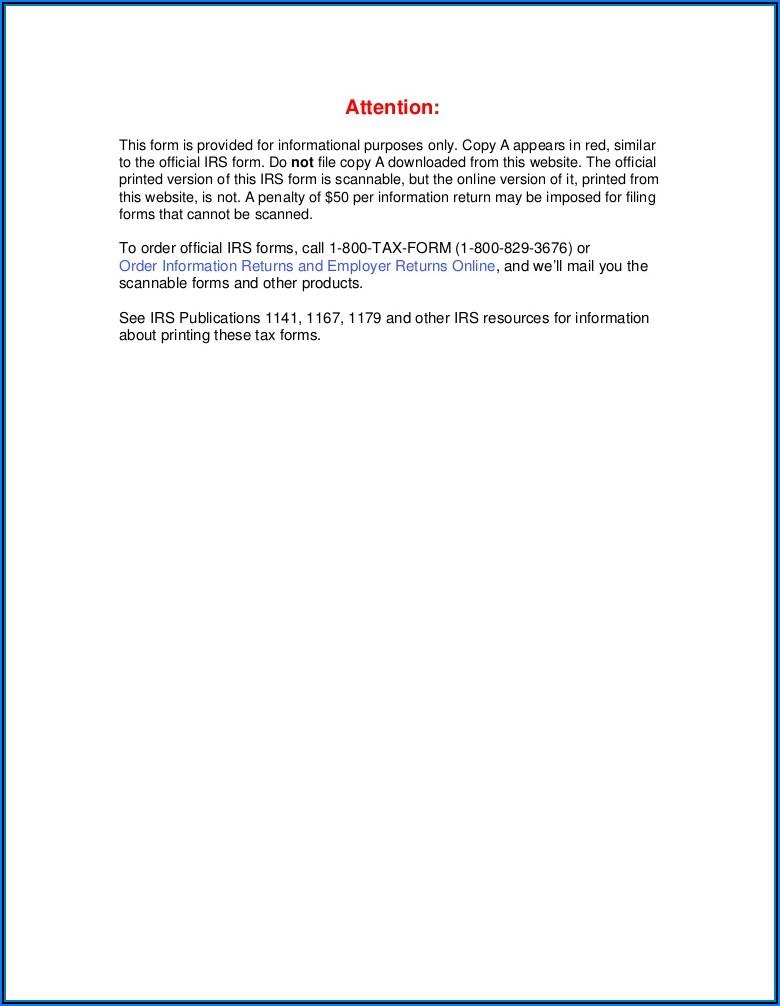 Federal Tax Form 1099 Oid